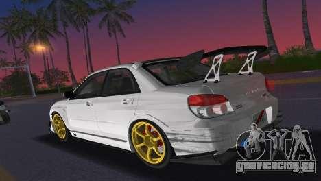 Subaru Impreza WRX STI 2006 Type 2 для GTA Vice City вид изнутри