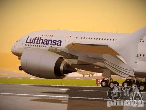 Airbus A380-800 Lufthansa для GTA San Andreas вид сбоку