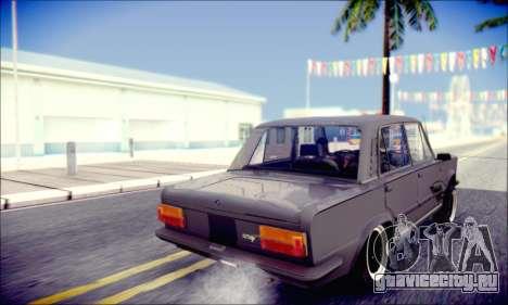 Fiat 125P Shark для GTA San Andreas вид изнутри