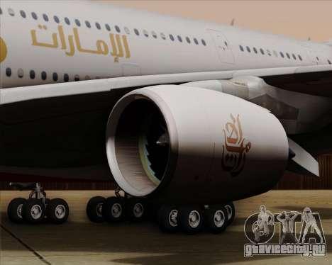 Airbus A380-841 Emirates для GTA San Andreas вид сбоку