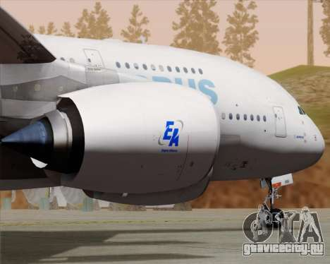 Airbus A380-861 для GTA San Andreas вид изнутри