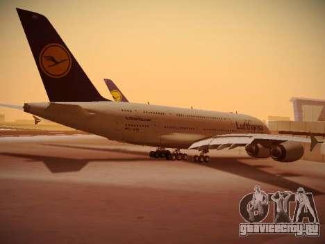 Airbus A380-800 Lufthansa для GTA San Andreas вид справа