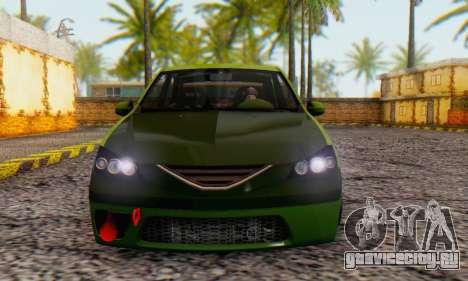 Dacia Logan MOR для GTA San Andreas вид сзади слева