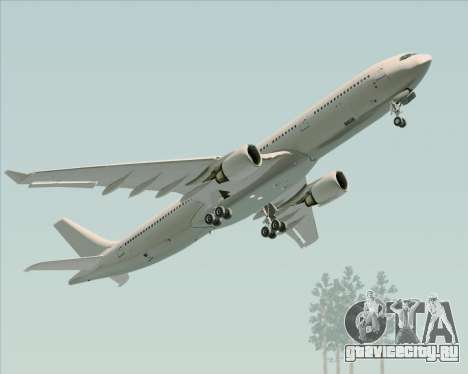 Airbus A330-300 Full White Livery для GTA San Andreas вид изнутри