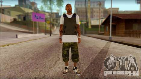 New Grove Street Family Skin v5 для GTA San Andreas
