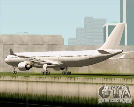 Airbus A330-300 Full White Livery для GTA San Andreas вид справа