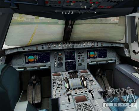 Airbus A380-861 для GTA San Andreas вид сверху