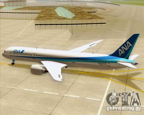 Boeing 787-9 All Nippon Airways для GTA San Andreas двигатель