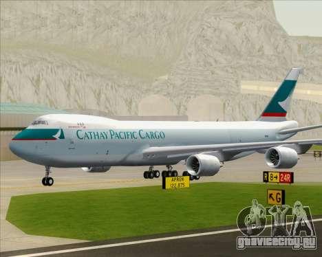 Boeing 747-8 Cargo Cathay Pacific Cargo для GTA San Andreas вид сбоку