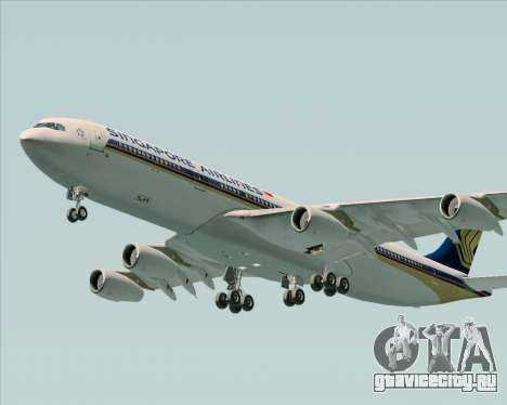 Airbus A340-313 Singapore Airlines для GTA San Andreas вид сверху