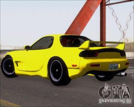 Mazda RX-7 FD3S A-Spec для GTA San Andreas вид сзади слева