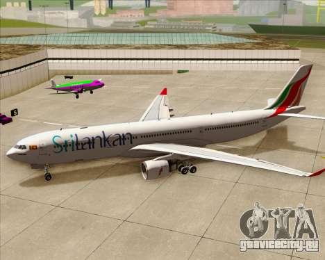 Airbus A330-300 SriLankan Airlines для GTA San Andreas вид сверху