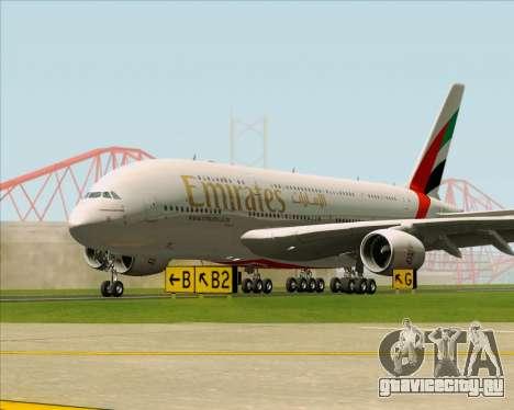 Airbus A380-841 Emirates для GTA San Andreas вид снизу
