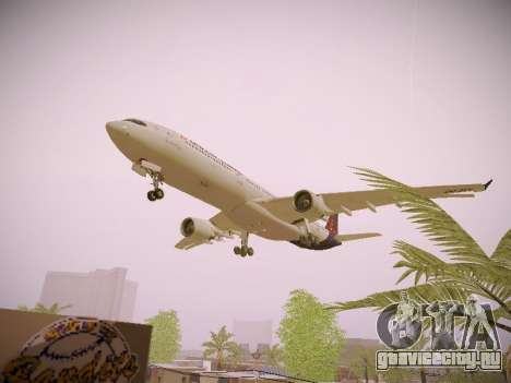 Airbus A330-300 Brussels Airlines для GTA San Andreas вид снизу