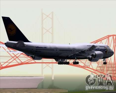 Boeing 747-830 Lufthansa - Fanhansa для GTA San Andreas вид сзади