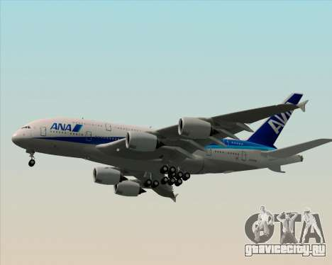 Airbus A380-800 All Nippon Airways (ANA) для GTA San Andreas вид сверху