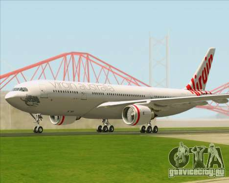 Airbus A330-200 Virgin Australia для GTA San Andreas вид сзади