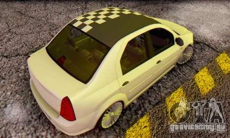 Dacia Logan ZYCU для GTA San Andreas вид сзади слева