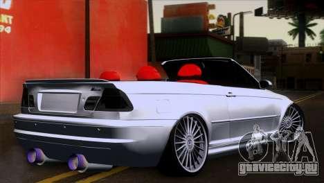 BMW M3 E46 Cabrio для GTA San Andreas вид слева