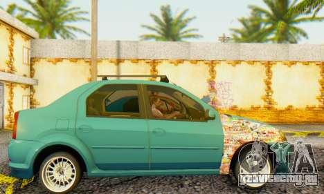 Dacia Logan 1.6 MPI Tuning для GTA San Andreas вид слева
