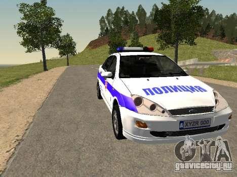 Ford Focus Полиция Нижегородской области для GTA San Andreas вид сзади