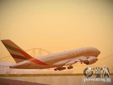 Airbus A380-800 Emirates для GTA San Andreas вид справа