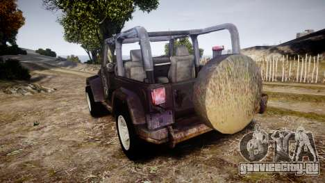 Jeep Wrangler Unlimited Rubicon для GTA 4 вид сзади слева