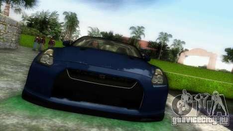 Nissan GT-R SpecV Black Revel для GTA Vice City вид слева