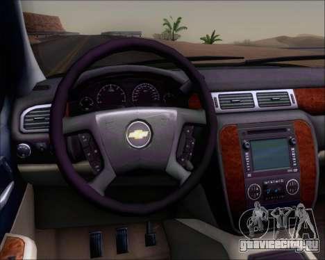 Chevrolet Silverado Gope для GTA San Andreas вид изнутри