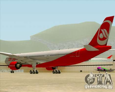 Airbus A330-300 Air Berlin для GTA San Andreas вид сзади