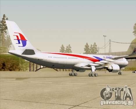 Airbus A330-323 Malaysia Airlines для GTA San Andreas вид сзади