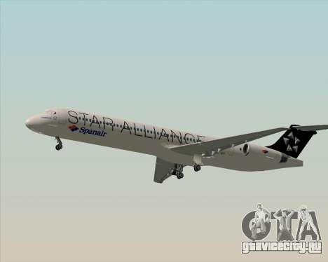 McDonnell Douglas MD-82 Spanair для GTA San Andreas вид сбоку
