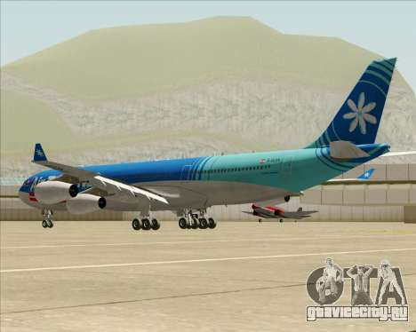 Airbus A340-313 Air Tahiti Nui для GTA San Andreas вид сзади слева