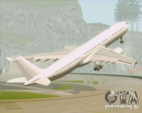 Airbus A330-300 Full White Livery для GTA San Andreas вид снизу