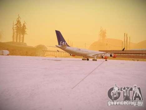 Airbus A340-300 Scandinavian Airlines для GTA San Andreas вид сзади