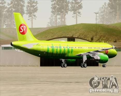 Airbus A320-214 S7-Siberia Airlines для GTA San Andreas вид справа