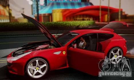 Ferrari FF 2012 для GTA San Andreas вид сверху