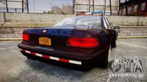 Vapid Police Cruiser LSPD Generation [ELS] для GTA 4 вид сзади слева