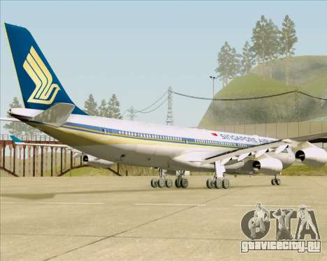 Airbus A340-313 Singapore Airlines для GTA San Andreas вид сзади