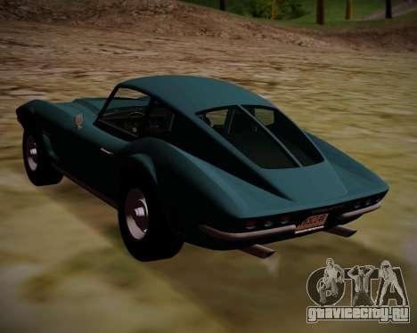 Coquette Classic GTA 5 DLC для GTA San Andreas вид слева