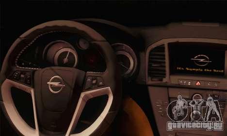 Opel Insignia OPC ATS Cup для GTA San Andreas вид сзади слева