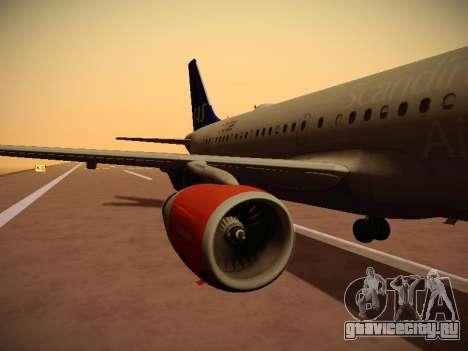 Airbus A319-132 Scandinavian Airlines для GTA San Andreas салон