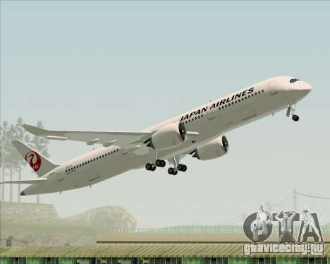 Airbus A350-941 Japan Airlines для GTA San Andreas вид снизу