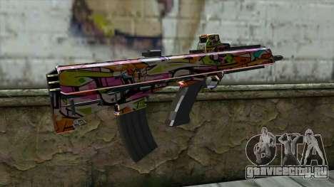 Graffiti Assault rifle для GTA San Andreas второй скриншот