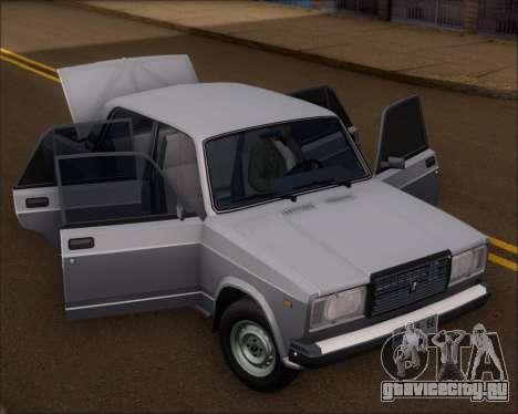 LADA 2107 для GTA San Andreas вид сзади