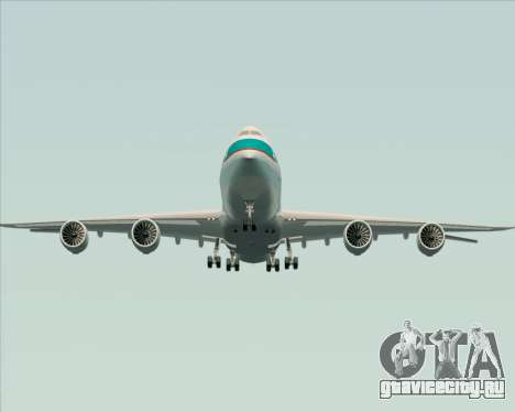Boeing 747-8 Cargo Cathay Pacific Cargo для GTA San Andreas вид снизу