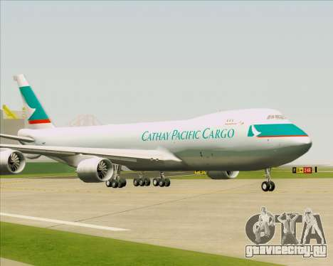 Boeing 747-8 Cargo Cathay Pacific Cargo для GTA San Andreas вид слева