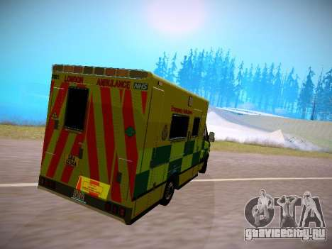 Mercedes-Benz Sprinter London Ambulance для GTA San Andreas вид сзади слева