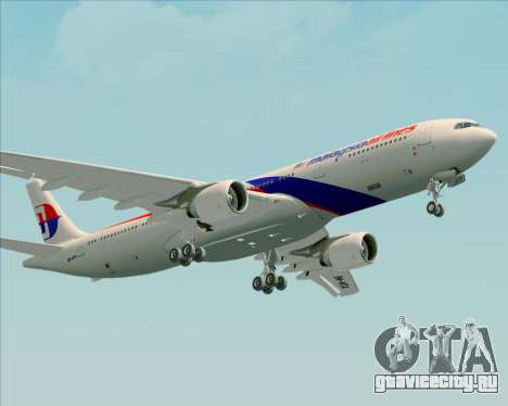 Airbus A330-323 Malaysia Airlines для GTA San Andreas вид изнутри