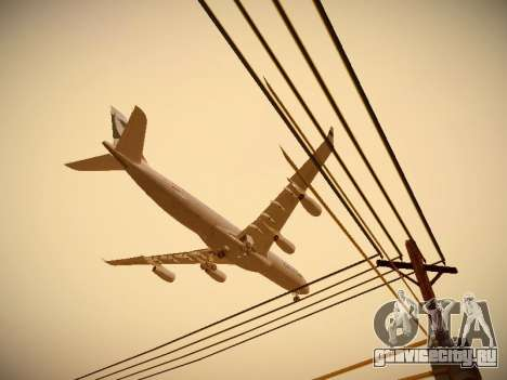 Airbus A340-300 Cathay Pacific для GTA San Andreas салон